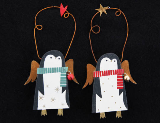 Wooden Forest Folk Penguins