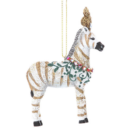 Resin Zebra with Flower 10cm