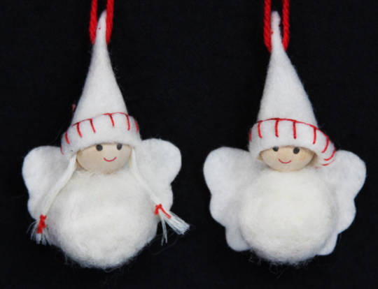 Mini White Wool Angels