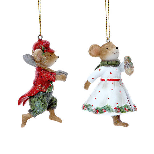 Resin Mr/Mrs Mouse 9cm