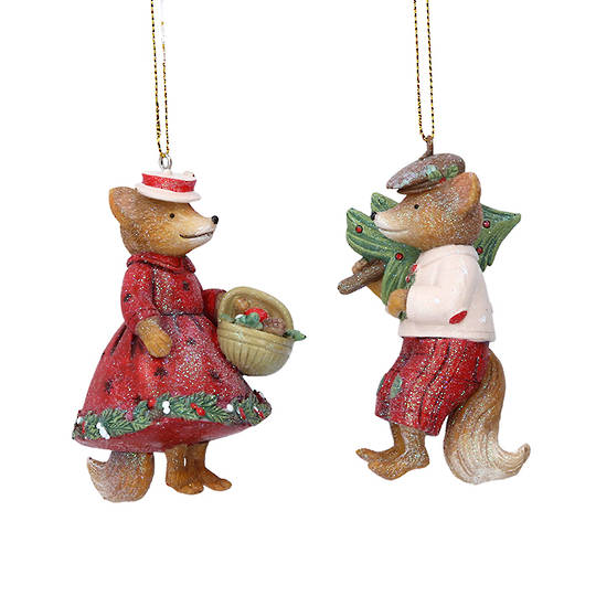 Resin Mr/Mrs Fox 9cm