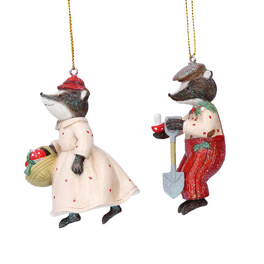 Resin Mr/Mrs Badger 9cm