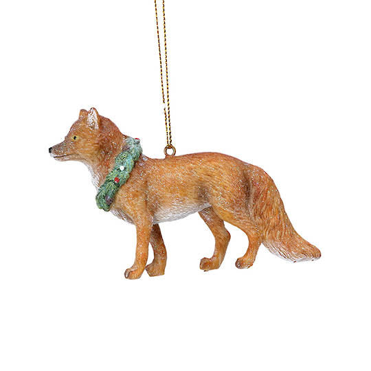 Resin UK Fox in Wreath Collar 8cm