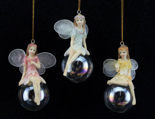 Resin Fairy on SoapBubble 9cm