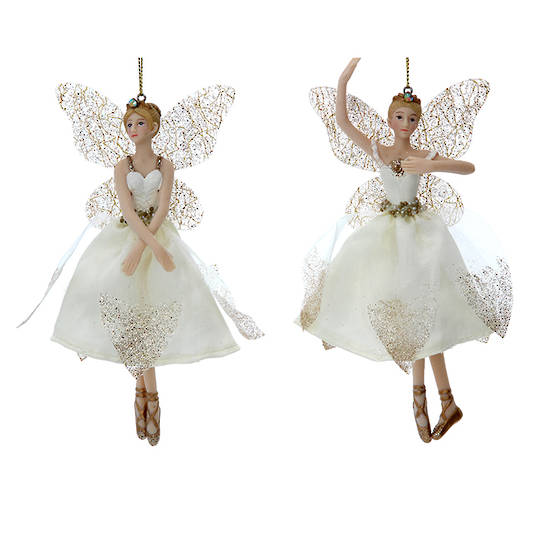 Cream Gold Peace Fairy 15cm