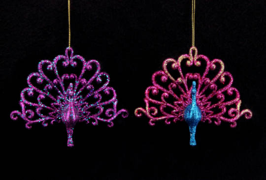 Resin Glitter Fuchsia Peacock