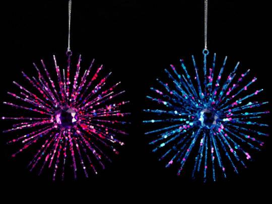 Wire Glitter Fuchsia Starburst