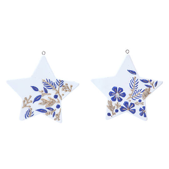 Resin Gold White Blue Star 8cm