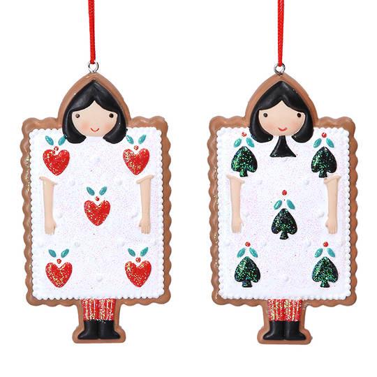 Resin Alice in Wonderland Gingerbread Card 9cm
