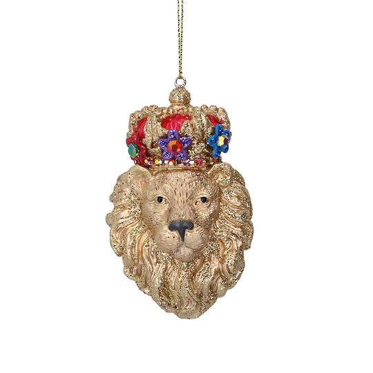 Resin Glorious Lion Head 7cm