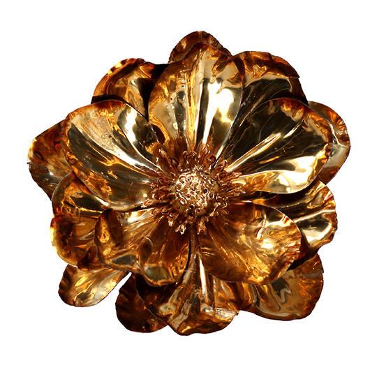 Gold Foil Magnolia Clip