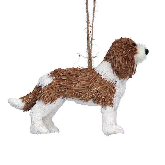 Hanging Bristle Dog 15cm