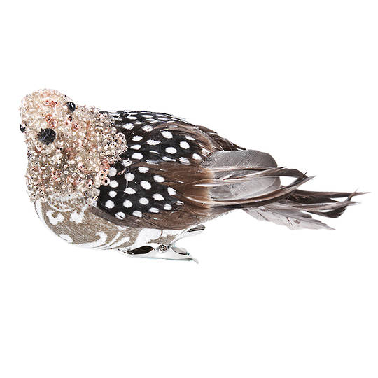BirdClip Bead Feather Partridge 18cm