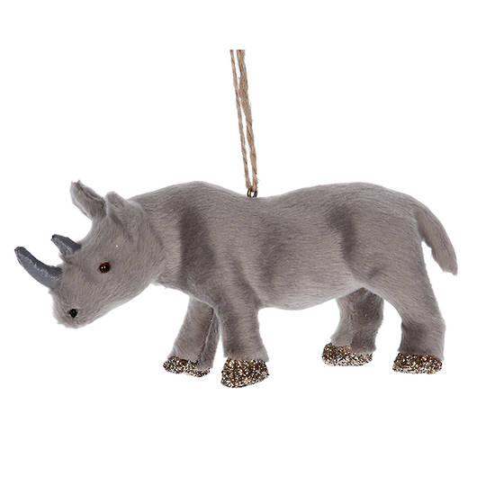 Faux Fur Rhino 14cm