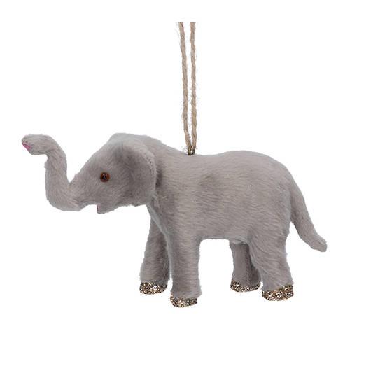 Faux Fur Elephant 12cm