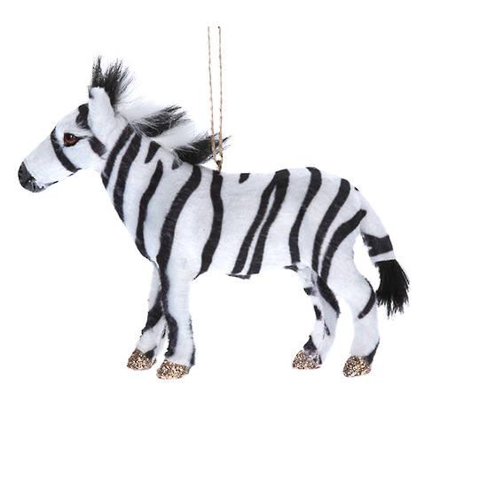 Faux Fur Zebra 13cm