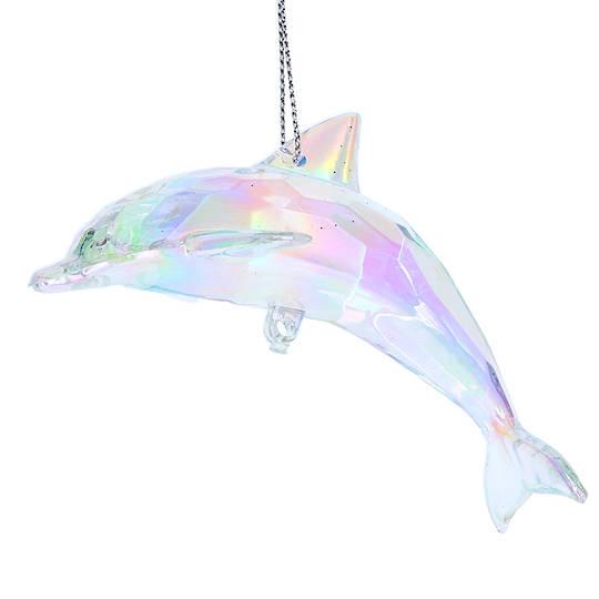 Rainbow Acrylic Dolphin 9cm