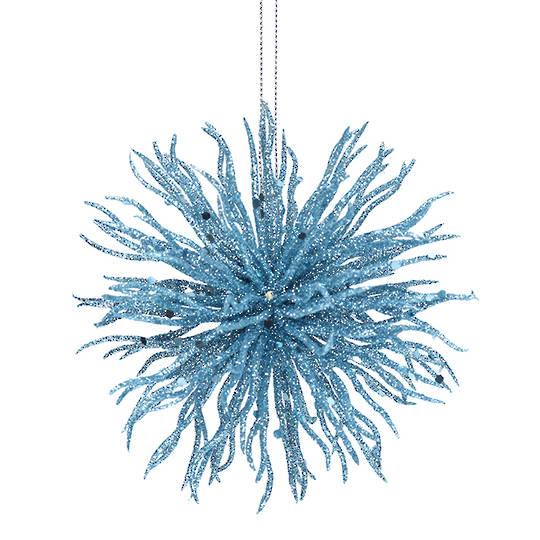 Acrylic Blue Glitter Starburst 11cm