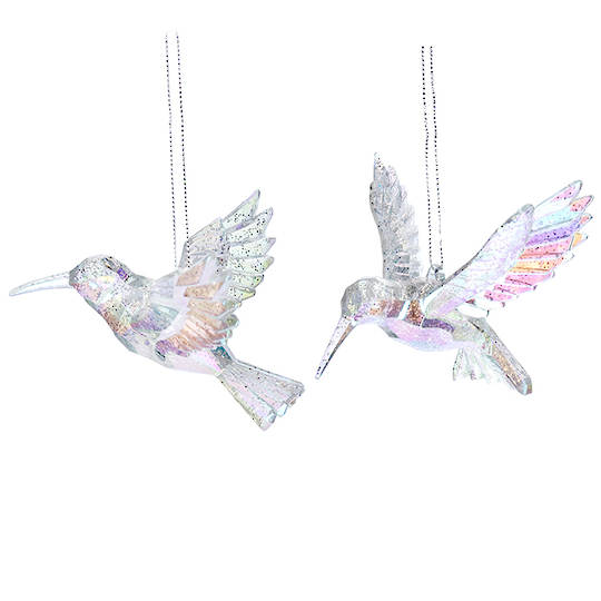 Acrylic Rainbow HummingBird 10cm