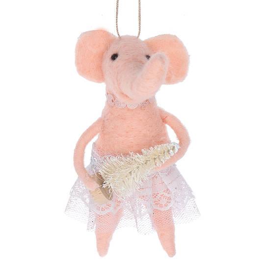 EcoWool Elephant Ballerina 15cm