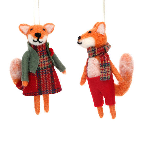 Wool Mr or Mrs Fox 13cm