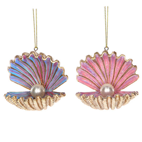 Resin Sea Kingdom Pearl Shell 6cm