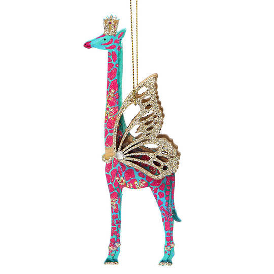 Wood Bling Safari Giraffe 15cm