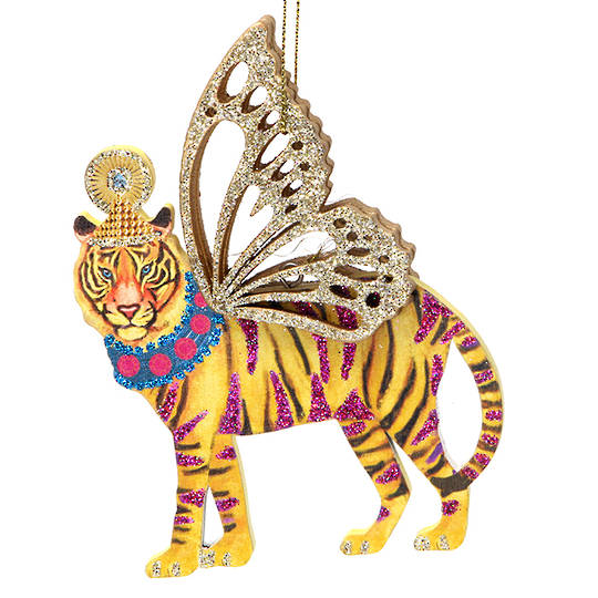 Wood Bling Safari Tiger 12cm SOLD OUT