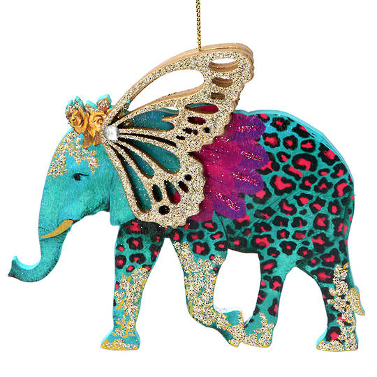 Wood Bling Safari Elephant 15cm SOLD OUT