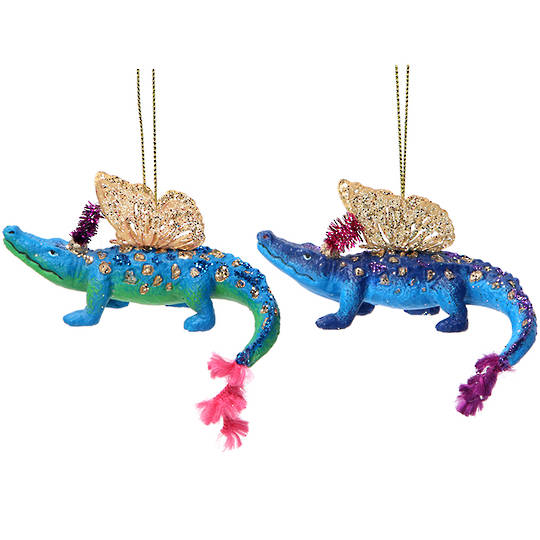 Resin Bling Safari Alligator 10cm