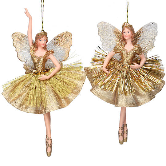 Resin Fairy Princess Gold Dress 17cm