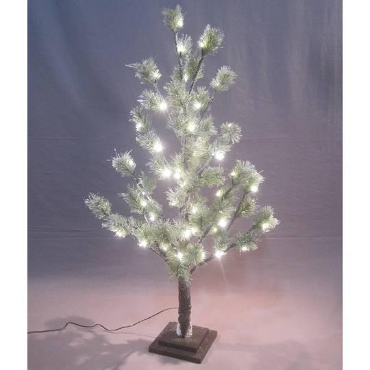 Snowy Green Pine Tree 90cm, 54 LED Lights
