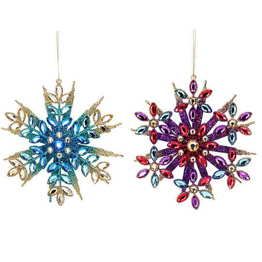 Acrylic Multi Colour Snowflake 14cm