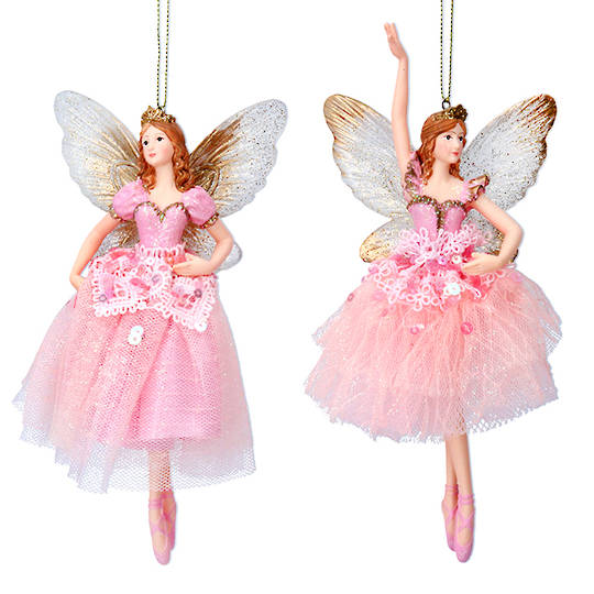 Resin Fairy Princess Pink Dress 17cm