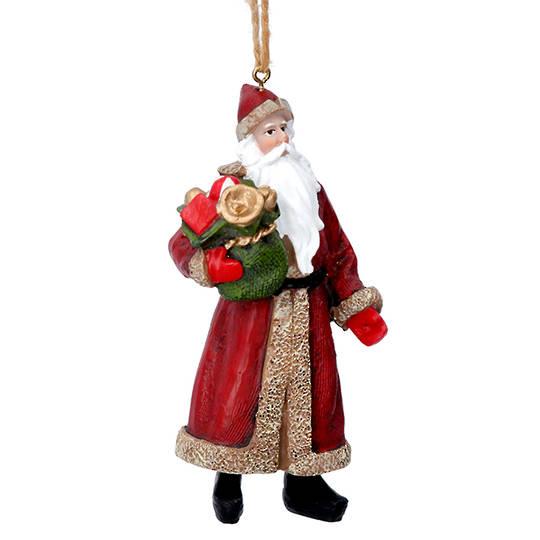 Resin Nostalgic Santa with Sack 10cm
