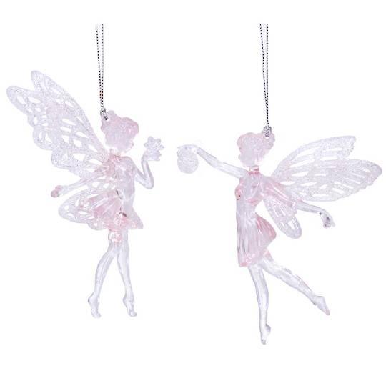 Acrylic Pink Fairy Ballerina 14cm