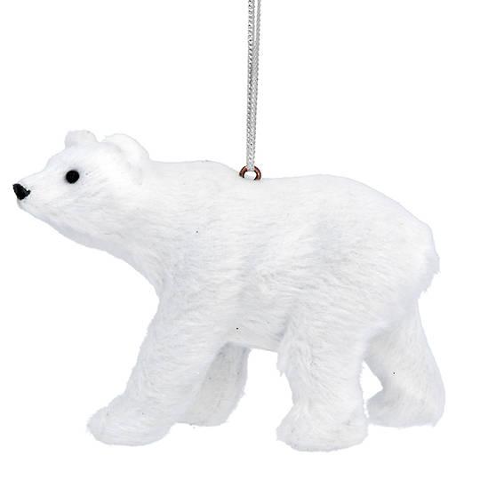 Faux Fur White Polar Bear 10cm