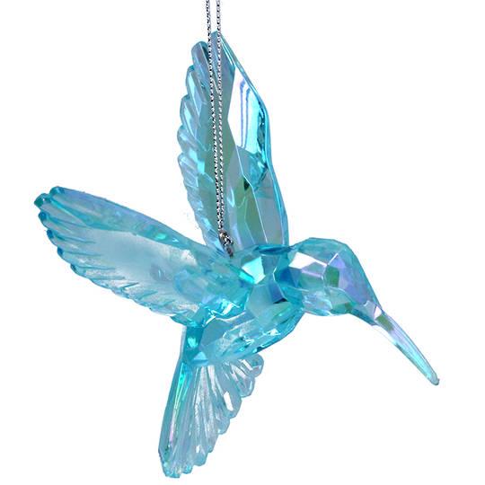 Acrylic Blue Humming Bird 10cm