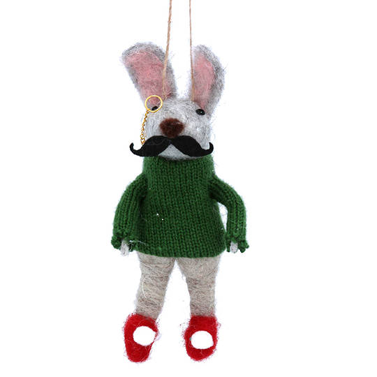 Wool Gentleman Rabbit 14cm