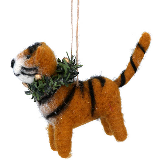 Wool Xmas Tiger 12cm SOLD OUT
