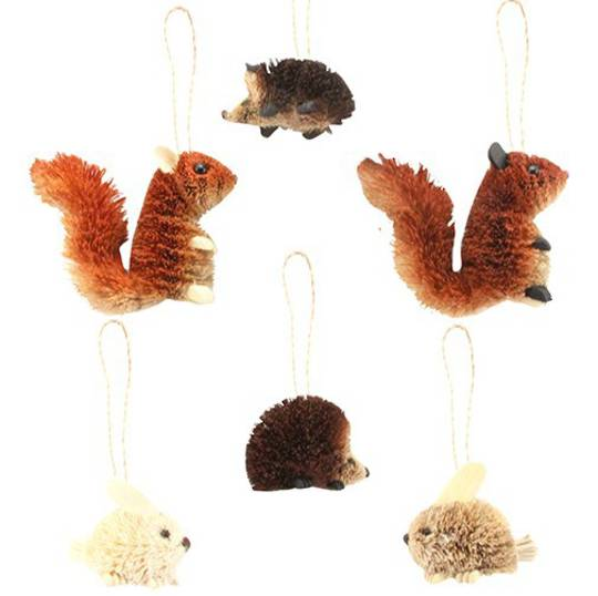 Bristle Hanging Animal 7cm