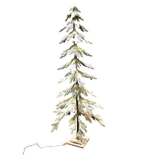 Snowy Fir Tree 1.8mtr, 80 LED Lights
