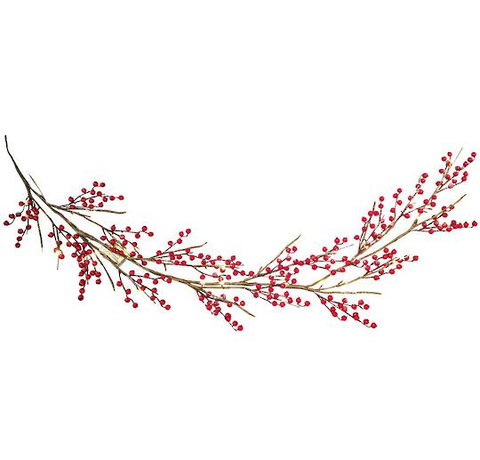 Red Berry Garland 1.8mtr, 36 LED Lights