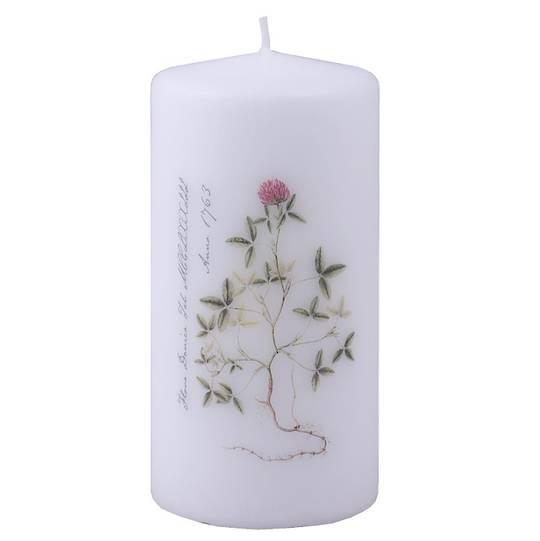 Flora Danica Pillar Candle, Clover