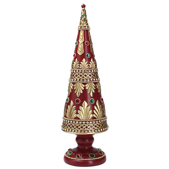 Red Cone Tree, with Gold Pattern 43cm