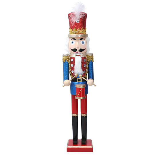 Wood Nutcracker, Blue Drummer 61cm