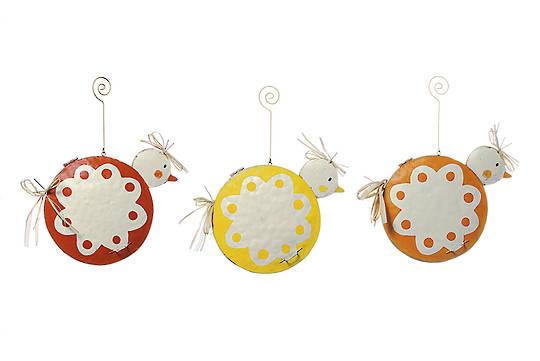 Tin Easter Cirlce Chicks 20cm, each