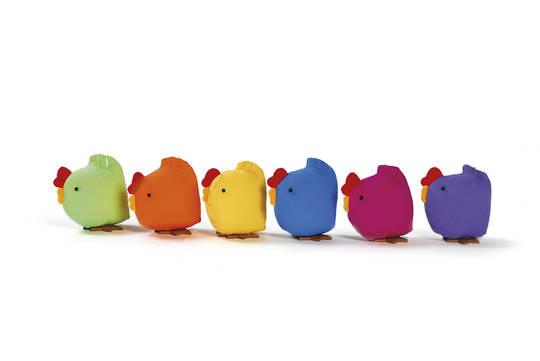 Fabric Mini Standing Chicken 6cm, each