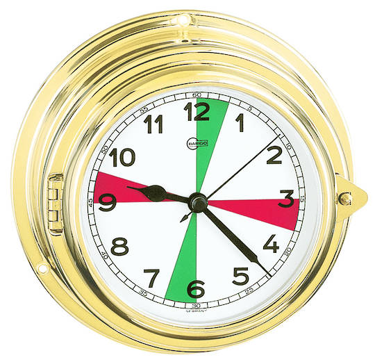 BM Marine Yacht Clock with Sectors