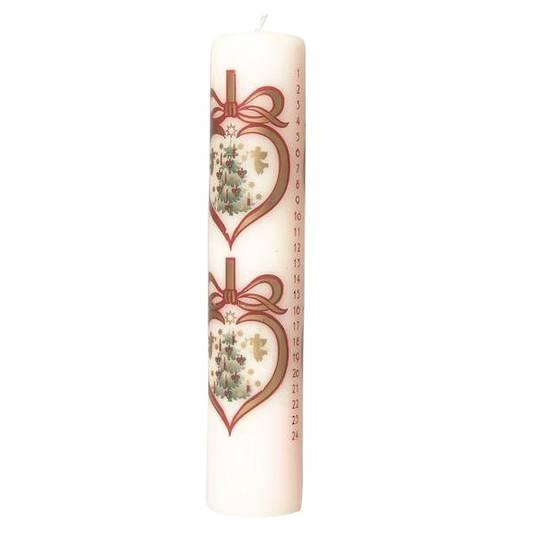 Advent Calendar Candle Heart Decoration